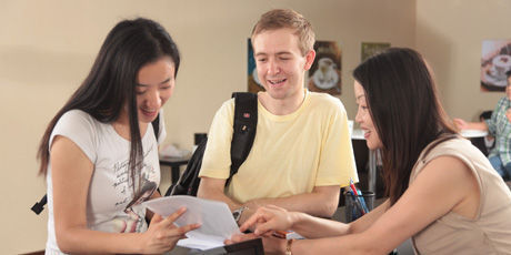 students at desk mandalingua