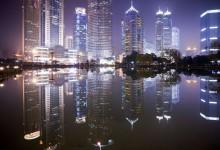 Night view Lu Jia Zui Financial District