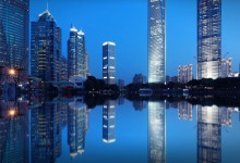 Modern Shanghai in Blue