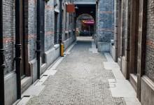 The street in Shanghai