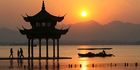 Sommer in Hangzhou am West See