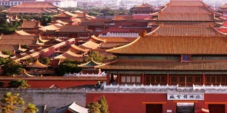 City Roofs of the Forbidden City in Beijing