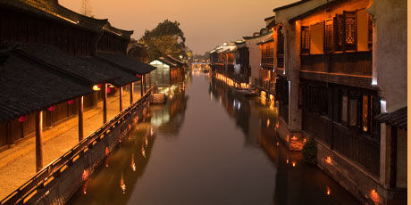 Xitang Watertown in evening ambience