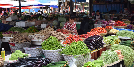 Gemüsemarkt in Lijiang