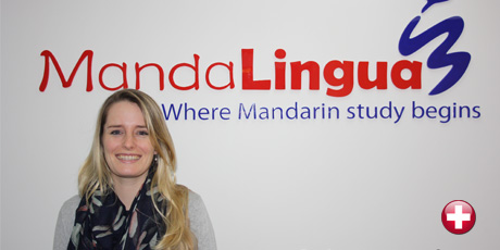 Leslie Burri learning Chinese with us