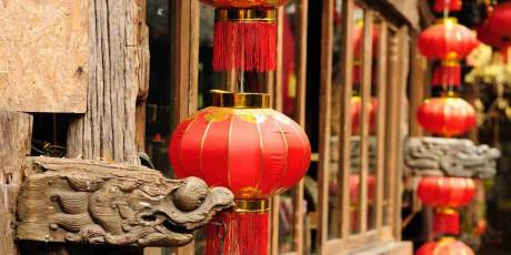 lijiang red lantern of China