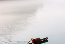 boat on the river in guilin of China