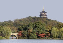 tower on the island of west lake