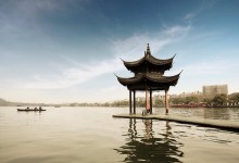 pavilion in the center of west lake